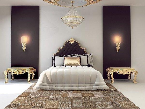 Оформление спальни плиткой