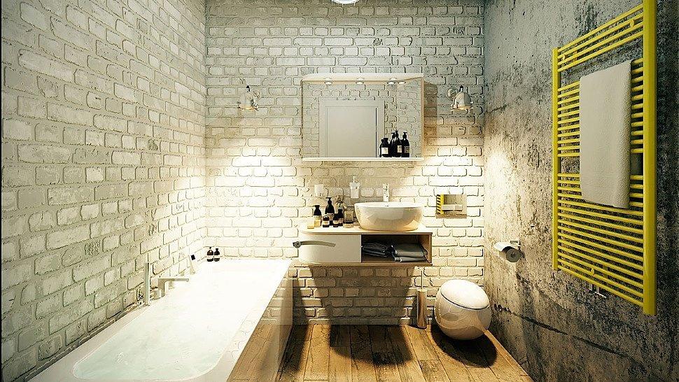 плитка для ванной в стиле лофт