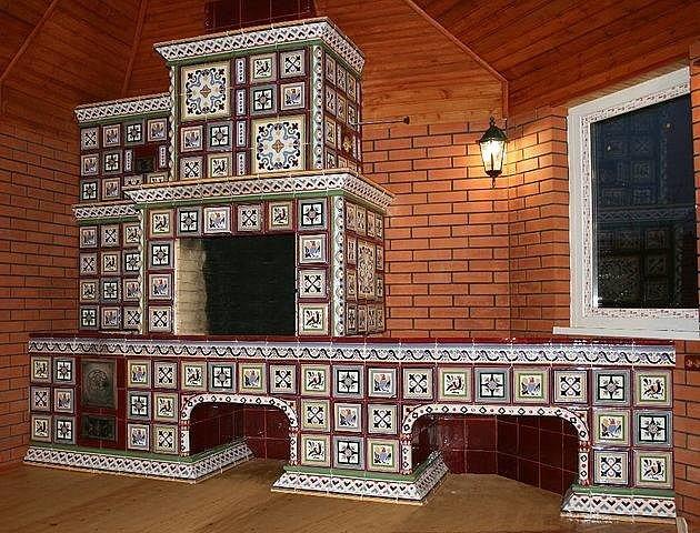 плитка для отделки печи или камина
